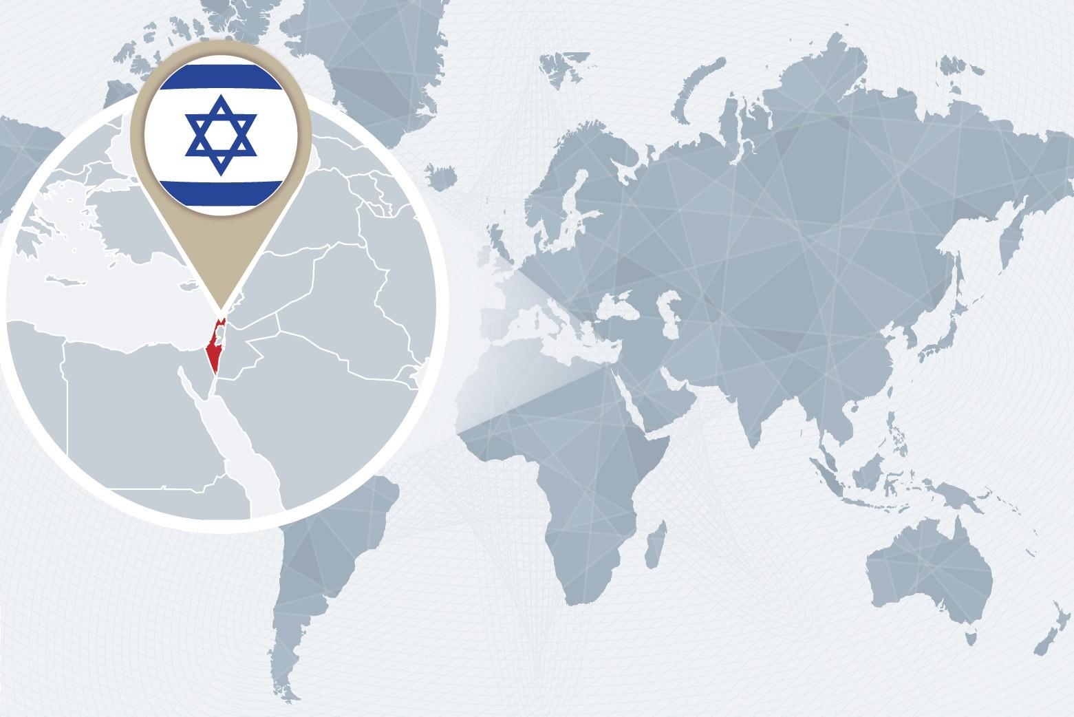 Israel world map