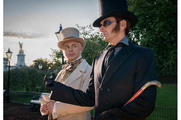 Amazon has released new images of Good Omens stars Michael Sheen and David Tennant in character (Amazon Prime Video)