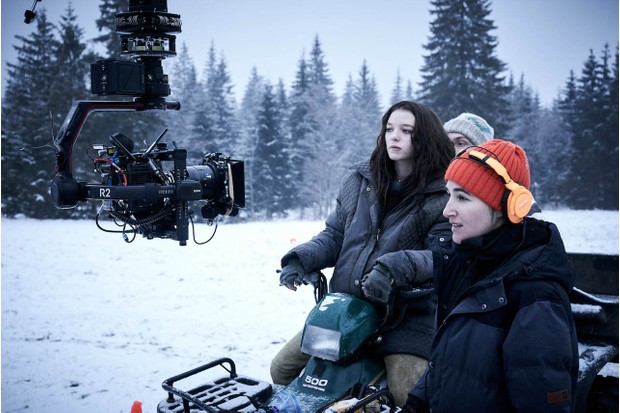 Star Esme Creed-Miles behind the scenes of Amazon Prime Video's new series Hanna (Amazon Prime Video)