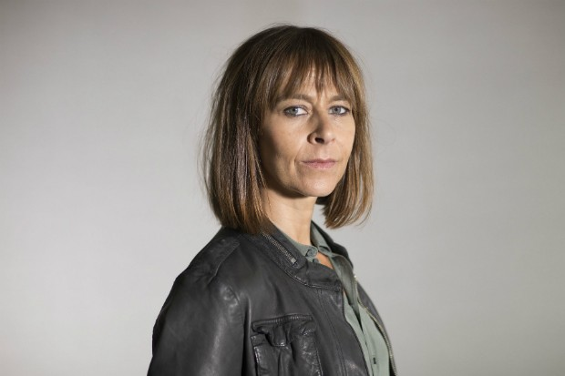 Kate Dickie plays DI Sam Boyd in Shetland