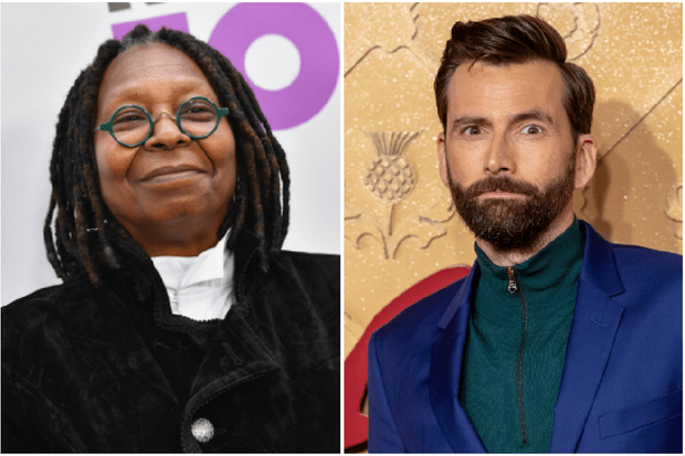 Whoopi Goldberg, David Tennant (Getty)