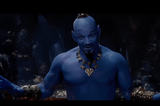 Aladdin, Genie, Will Smith (Disney screenshot)