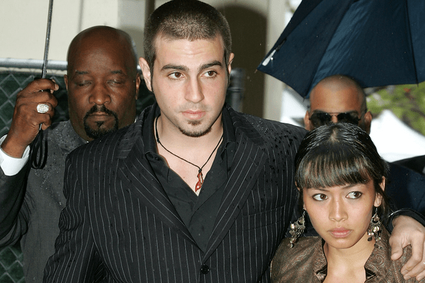 Wade Jackson and his wife at Jackson's 2005 trial (Getty)