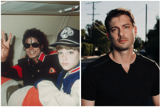 Michael Jackson and James Safechuck, then and now (Getty, C4)