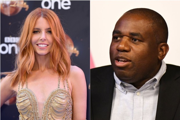 Stacey Dooley and David Lammy
