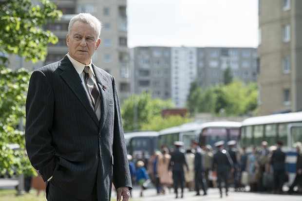 Stellan Skarsgård plays Soviet Deputy Prime Minister Boris Shcherbina in Chernobyl