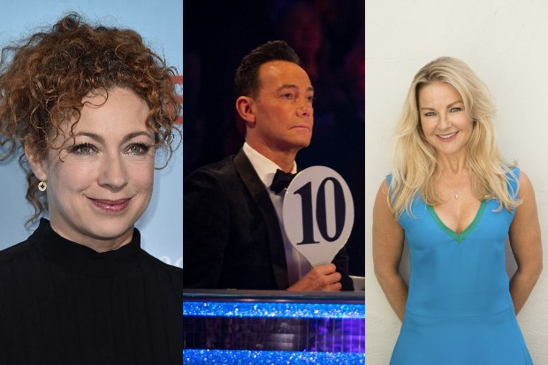 Alex Kingston, Strictly's Craig Revel Horwood and Sarah Hadland (Getty, BBC)
