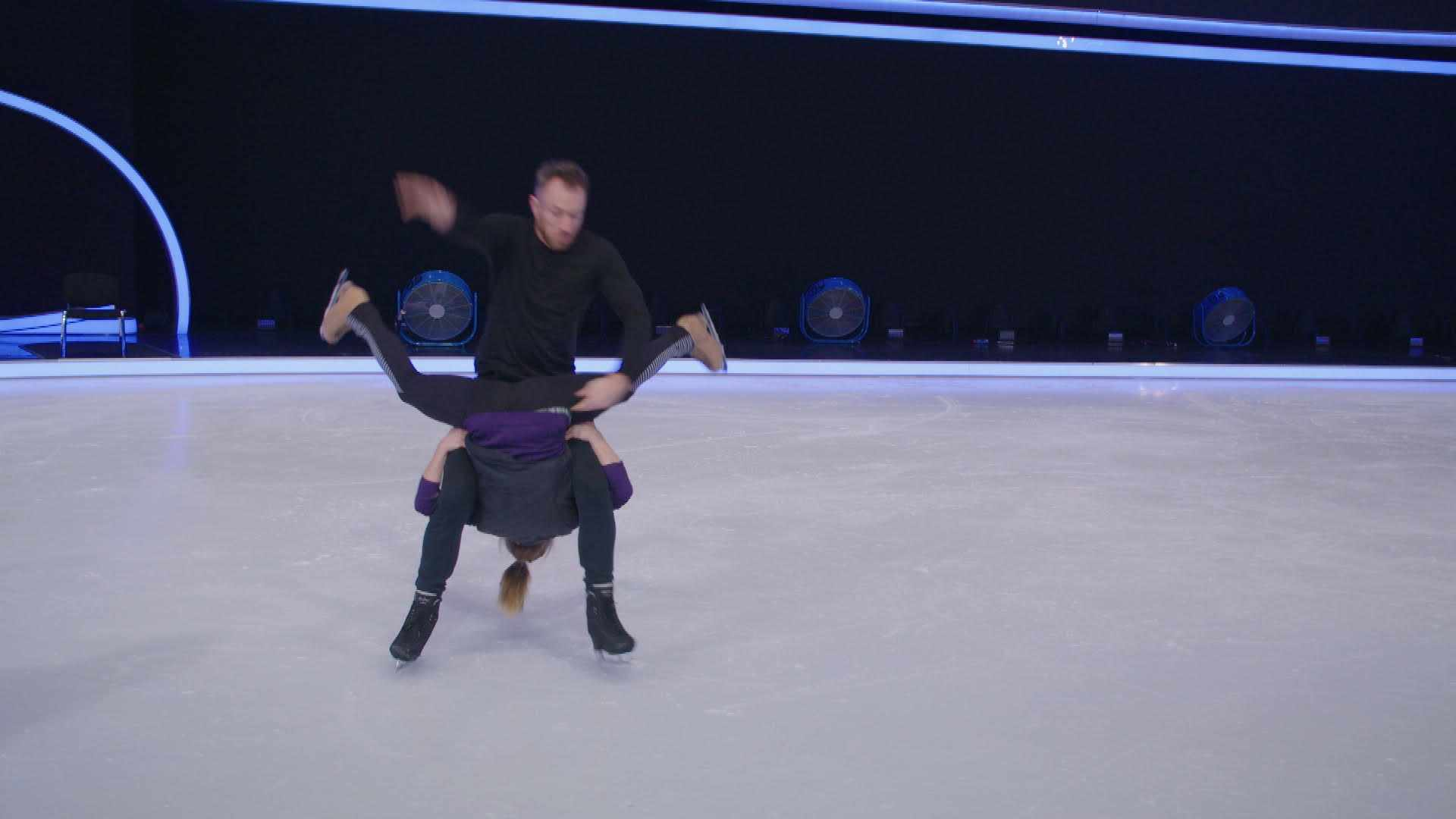 James Jordan and Alexandra Schauman in Dancing on Ice training