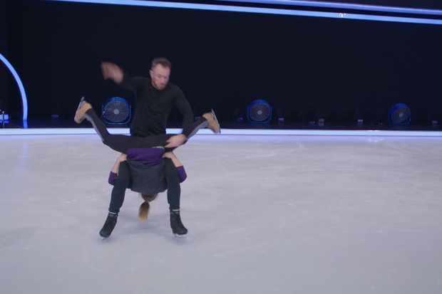 James Jordan and Alexandra Schauman in Dancing on Ice training