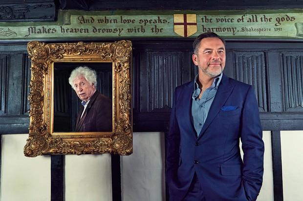 David Walliams and Tom Baker (Andy Earl for Radio Times)