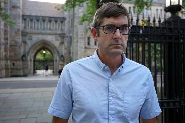 Programme Name: Louis Theroux - TX: 04/03/2019 - Episode: n/a (No. n/a) - Picture Shows: Louis at Yale University, Connecticut Louis Theroux - (C) BBC - Photographer: Lottie Gammon