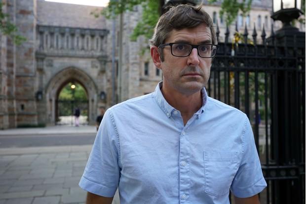 Programme Name: Louis Theroux - TX: 04/03/2019 - Episode: n/a (No. n/a) - Picture Shows: Louis at Yale University, Connecticut Louis Theroux - (C) BBC - Photographer: Lottie Gammon