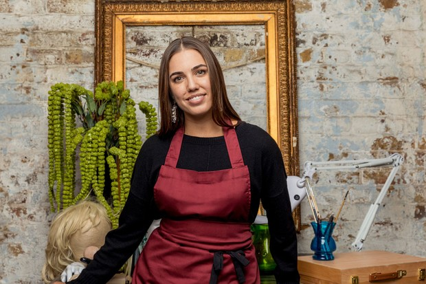 Amber Le Bon in Celebrity Painting Challenge (BBC Pictures)