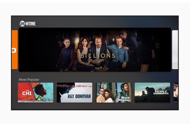 What Apple's new TV app will look like – Showtime will be available for users in the US (Apple)