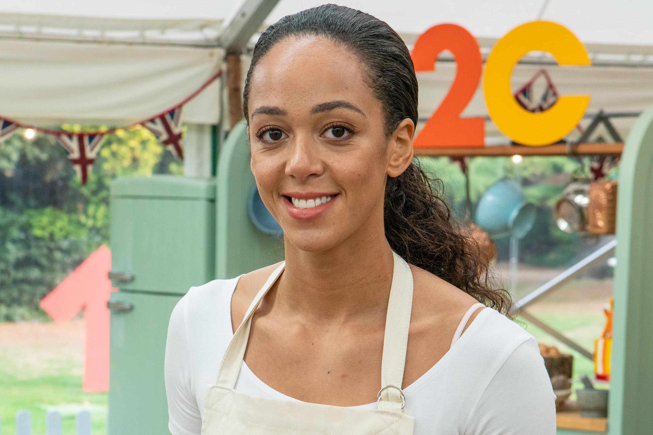 Katarina Johnson-Thompson in Celebrity Bake off 2019 (Channel 4)