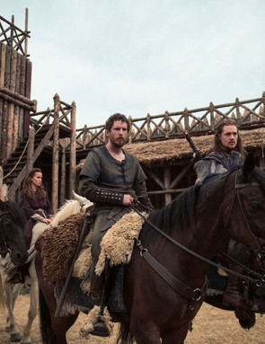 The Last Kingdom - Photographer: Des Willie © Carnival Film & Television Limited 2017 Eva Birthistle (as Hild), Peri Baumeister (as Gisela), Gerard Kearns (as Halig); Alexander Dreymon (as Uhtred)