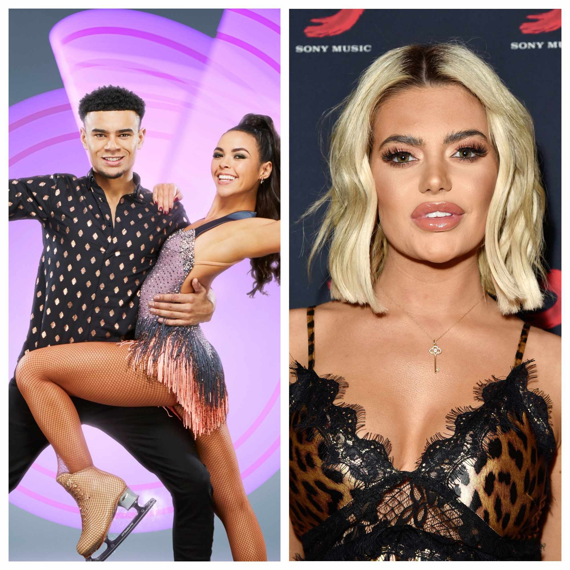 Dancing on Ice, Wes, Vanessa, Megan (ITV/Getty)