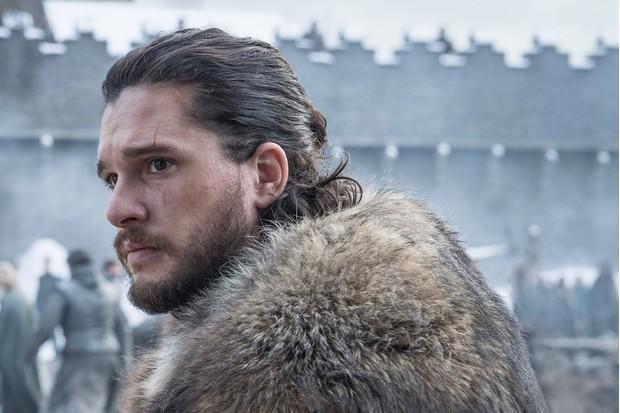 Kit Harington as Jon Snow in Game of Thrones season eight (Sky)