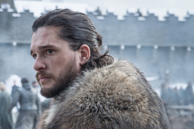 Kit Harington as Jon Snow in Game of Thrones season eight (Sky)