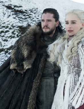 Kit Harington and Emilia Clarke in Game of Thrones (HBO/Sky)