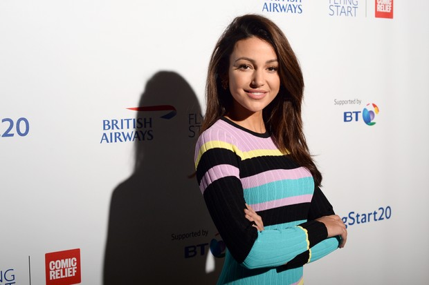LONDON, ENGLAND - NOVEMBER 15: Michelle Keegan attends British Airways champagne reception to celebrate the airline raising £20 million for Comic Relief, through it's charity Flying Start, at the Science Museum on November 15, 2018 in London, England. (Photo by Eamonn M. McCormack/Getty Images for British Airways)