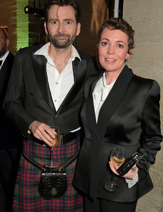 David Tennant and Olivia Colman at the National Theatre's Up Next gala, Getty