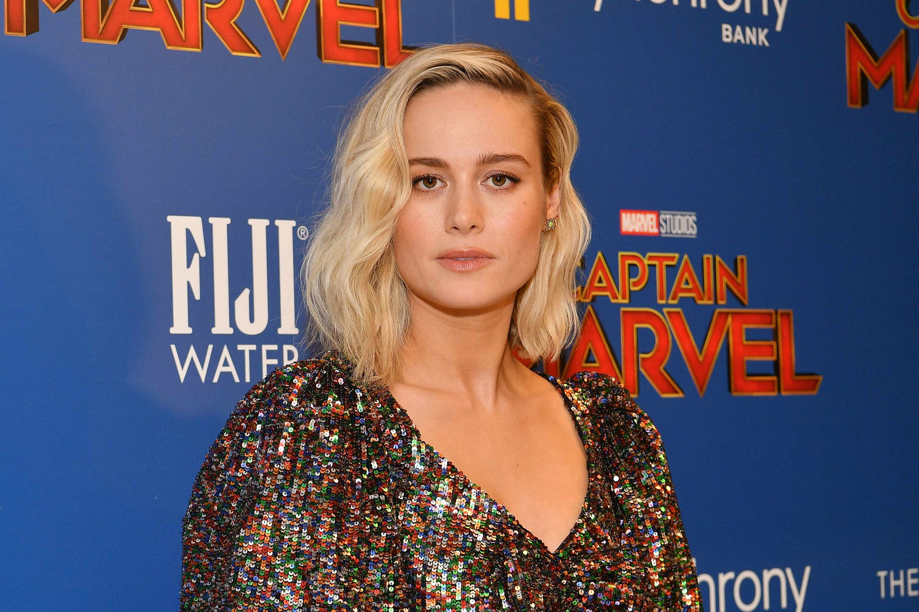 "NEW YORK, NY - MARCH 06:  Brie Larson attends the ""Captain Marvel"" screening at Henry R. Luce Auditorium at Brookfield Place on March 6, 2019 in New York City.  (Photo by Dia Dipasupil/WireImage)"