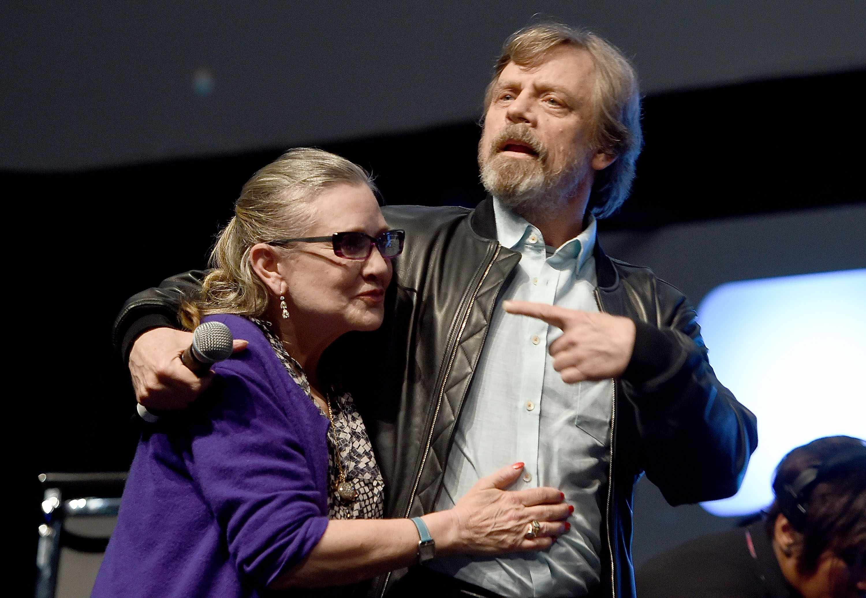 Carrie Fisher and Mark Hamill Star Wars