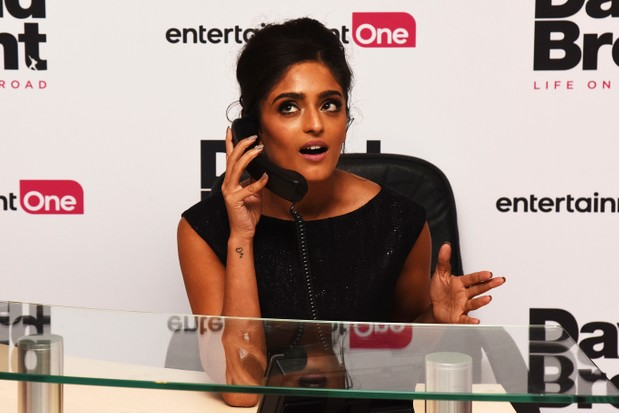 """LONDON, ENGLAND - AUGUST 10: Mandeep Dhillon attends the World premiere of """"David Brent: Life on the Road"""" at Odeon Leicester Square on August 10, 2016 in London, England. (Photo by Dave J Hogan/Dave J Hogan/Getty Images)"""