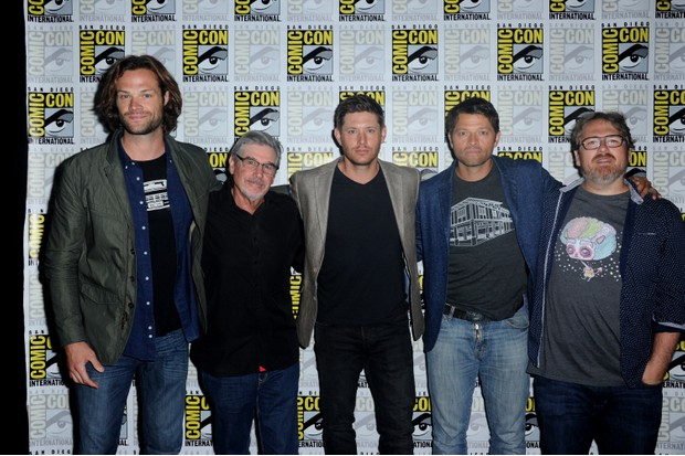 Supernatural leads and show runners (Getty)