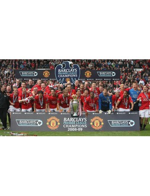 2008/2009 Premier League winners - Manchester United (Photo by Chris Coleman/Manchester United via Getty Images)