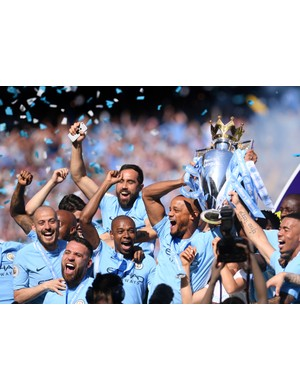 2017/2018 Premier League winners - Manchester City (Photo by Laurence Griffiths/Getty Images)