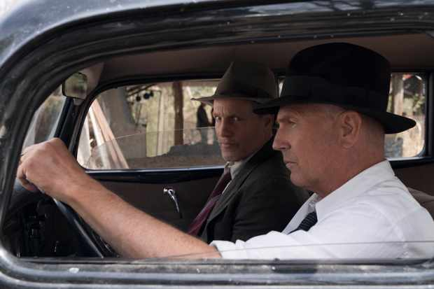 "THE HIGHWAYMEN (2019) - pictured L-R: Woody Harrleson (""Maney Gault"") and Kevin Costner (""Frank Hamer"") Photo by Hilary B Gayle / Courtesy of Netflix  _DSC2612.dng"