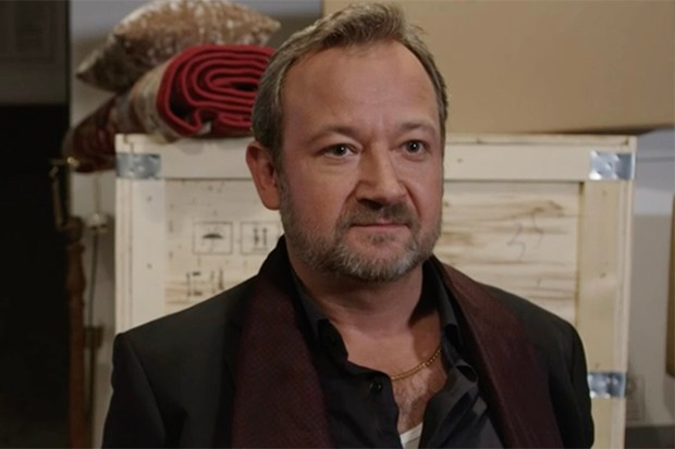 James Dreyfus plays Claude Mortimer in Shakespeare and Hathaway