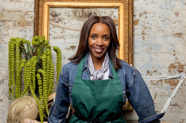 Josie d'Arby in Celebrity Painting Challenge (BBC Pictures)