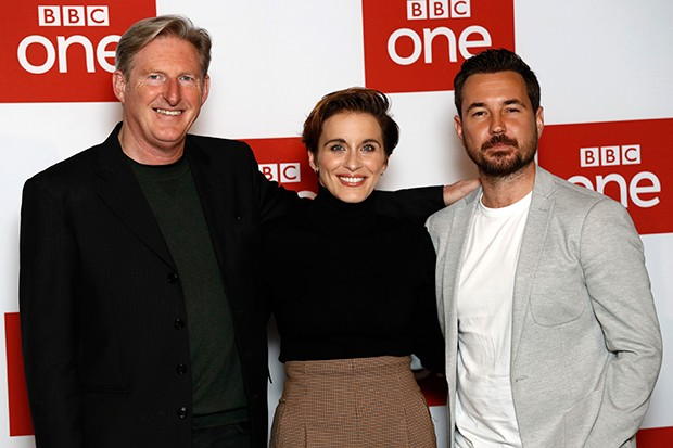 Adrian Dunbar, Vicky McClure and Martin Compston attend the Line of Duty photocall at BFI Southbank
