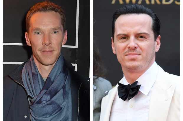 Benedict Cumberbatch and Andrew Scott behind the scenes of ...  |Andrew Scott And Benedict Cumberbatch In Pajamas
