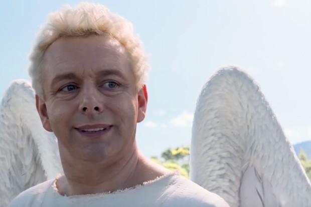 Michael Sheen plays Aziraphale