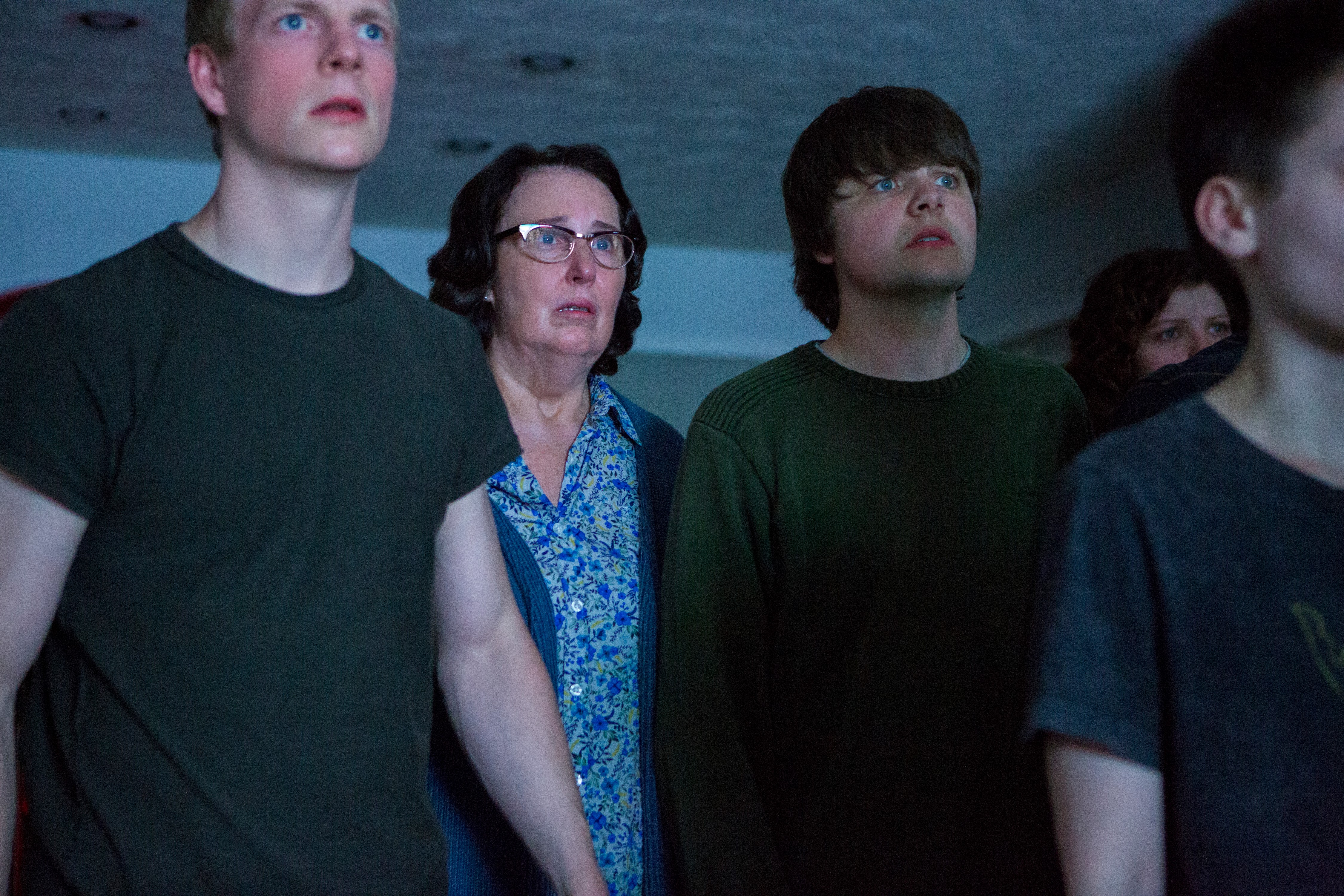 Patrick Gibson (Steve), Phyllis Smith (BBA) and Brendan Meyer (Jesse in The OA season 2)