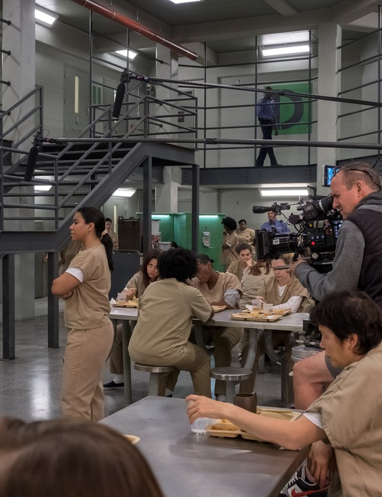 Behind the scenes on Orange is the New Black (Jojo Whilden/Netflix)