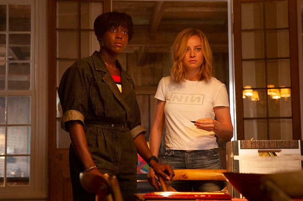 Maria (Lashana Lynch) and Carol Danvers/Captain Marvel (Brie Larson) (Disney)