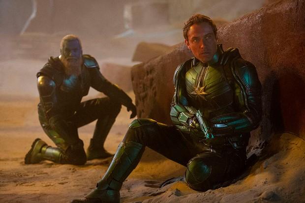 Jude Law and Rune Temte in Captain Marvel (Disney)