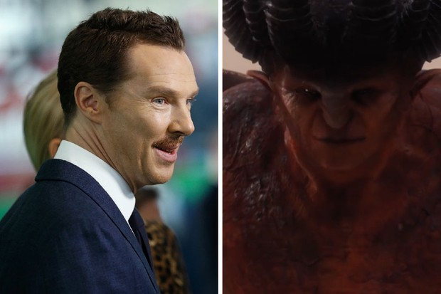 Benedict Cumberbatch plays the voice of Satan