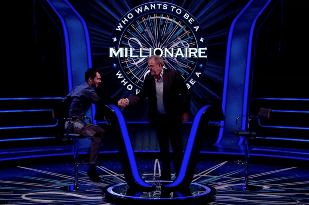 Who wants to be a millionaire Jeremy Clarkson John Robinson (ITV Screenshot)