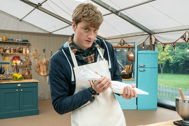 James Acaster on Celebrity Bake Off (C4)