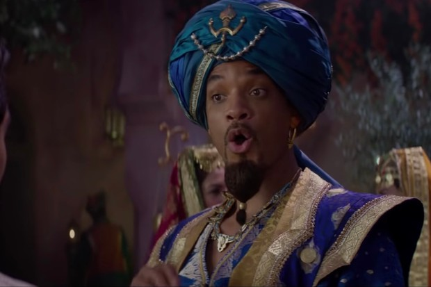 Will Smith as the Genie in the first full trailer for Aladdin (Disney/YouTube)