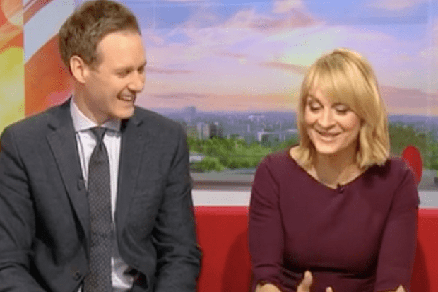 BBC Breakfast Dan Walker Louise Minchin (BBC Screenshot)