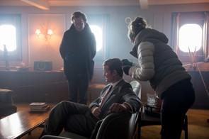 The Crown - Philip Martin, Matt Smith - Matt Smith chatting with director Philip Martin