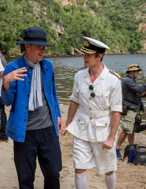 The Crown - Philip Martin, Matt Smith - Director Philip Martin and Matt Smith in South Africa