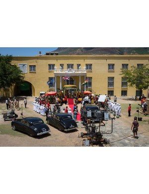 The Crown - The Crown filming Queen Elizabeth II arrival in Ghana, filming in South Africa
